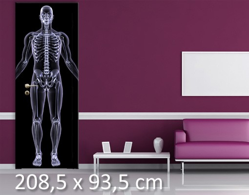 Produktfoto TürTapete Röntgenmensch