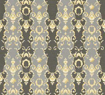 Produktfoto A.S. Création Mustertapete - Château 5 - Vlies Grau Metallic Schwarz 343926