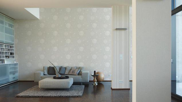 Produktfoto A.S. Création Streifentapete - Del Sol - Vlies Beige Grau Metallic 327013
