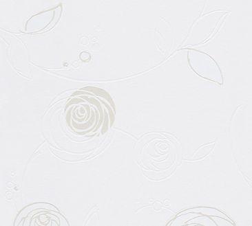 Produktfoto A.S. Création florale Tapete - Essentials - Vlies Beige Creme Weiß 305361