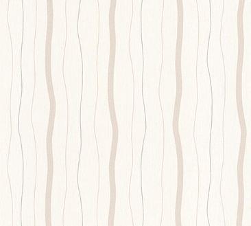 Immagine del prodotto Carta da parati A.S. Création a righe - Fiore - Crema Grigio Metallizzato 325853