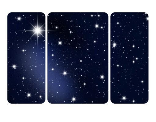 Produktfoto Selbstklebendes Wandbild The Stars Triptychon