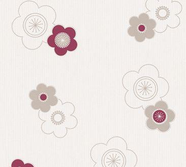 Produktfoto A.S. Création florale Tapete - Happy Spring - Vlies Beige Creme Rot 347675