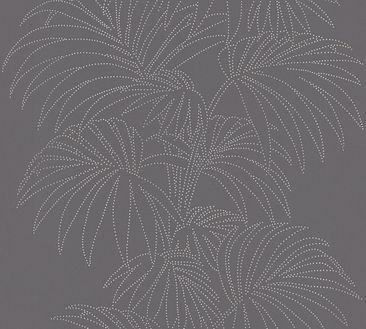 Produktfoto A.S. Création florale Tapete - Reflection - Vlies Bunt Metallic Schwarz 319982