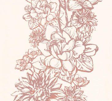 Produktfoto A.S. Création florale Tapete - Vision - Vlies Beige Metallic Orange 307061