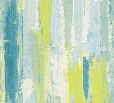 Produktfoto A.S. Création Streifentapete - Vision - Vlies Blau Creme Grün 319493