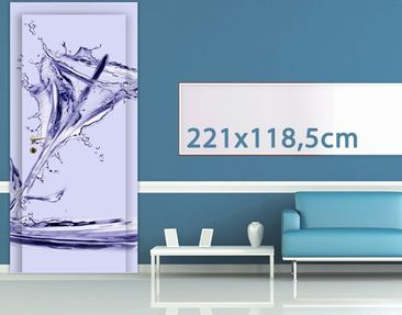 Product picture Door Photo Wall Mural Waterlily