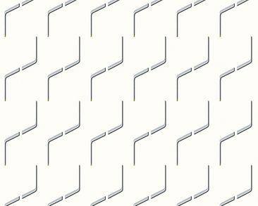 Produktfoto Architects Paper Mustertapete - AP 2000 Design by Studio F.A. Porsche - Vlies Metallic Schwarz Weiß 960681