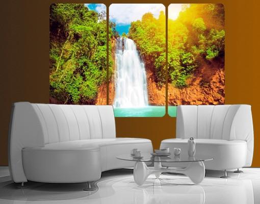 Produktfoto Selbstklebendes Wandbild Paradies Lagune Triptychon