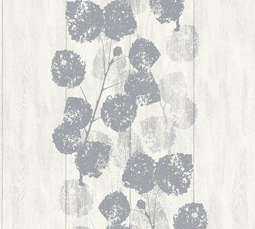 Produktfoto Brigitte Home Mustertapete - Brigitte 6 - Vlies Grau Metallic Weiß 339261
