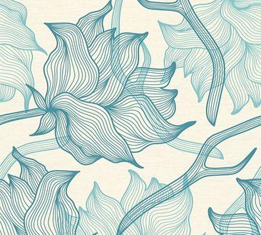 Produktfoto Lars Contzen Mustertapete - Artist Edition No. 1 - Vlies Blau Creme 340895