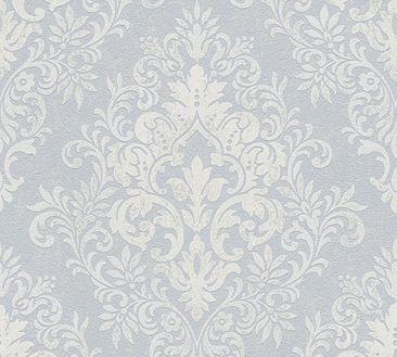 Produktfoto Livingwalls Mustertapete - Jette 4 - Vlies Creme Grau Metallic 339242