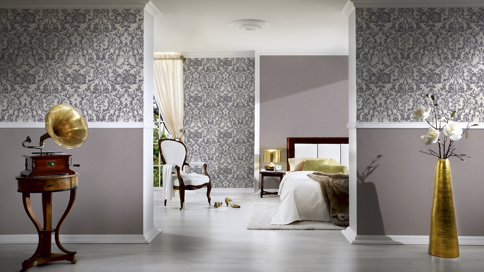 livingwalls uni tapete moments vlies grau mit struktur 328356. Black Bedroom Furniture Sets. Home Design Ideas