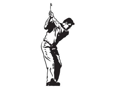 Product picture Window Sticker no.817 Golfer