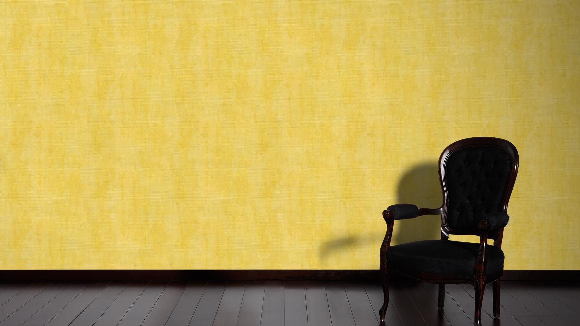 ... Produktfoto Livingwalls Uni Tapete   Revival   Vlies Gelb Grün Metallic  340816