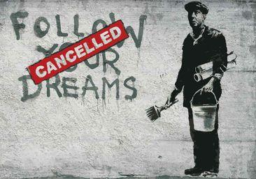 Produktfoto Fototapete - Banksy Graffiti Betonwand -...