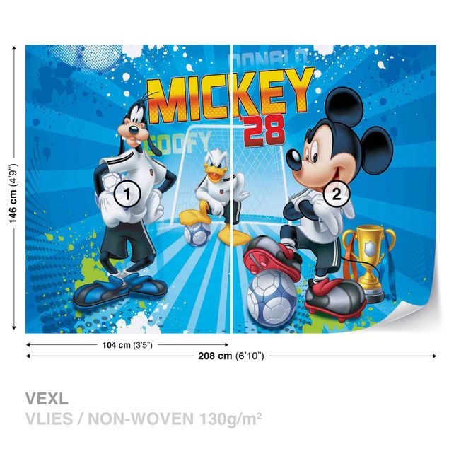 Produktfoto Fototapete - Disney Micky Maus - Vliestapete 952WM