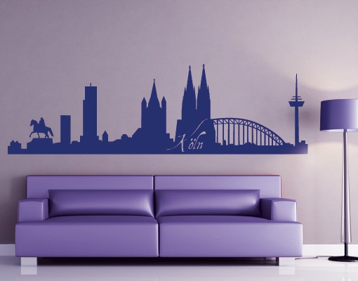wandtattoo skyline no fb20 k ln skyline i. Black Bedroom Furniture Sets. Home Design Ideas