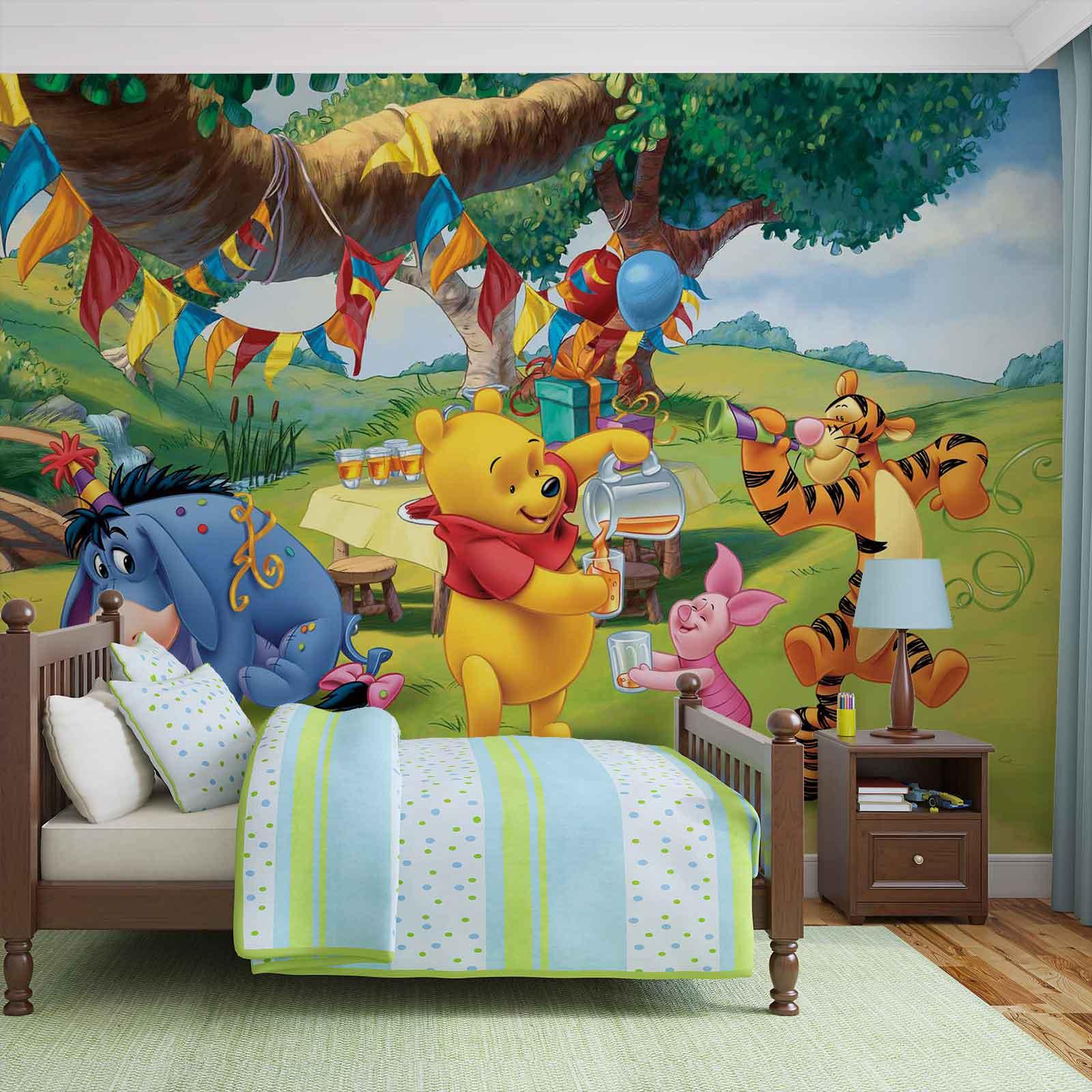 fototapete disney winnie pu b r ferkel tiger i aah vliestapete 3173wm. Black Bedroom Furniture Sets. Home Design Ideas