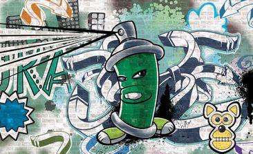 Produktfoto Fototapete - Graffiti Street Art - Vliestapete 1396WM