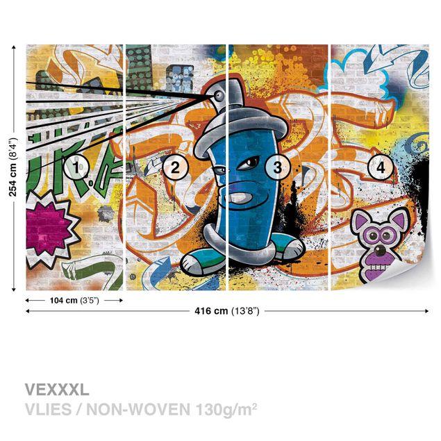 Produktfoto Fototapete - Graffiti Street Art - Vliestapete 1398WM