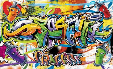Produktfoto Fototapete - Graffiti Street Art - Vliestapete 1400WM