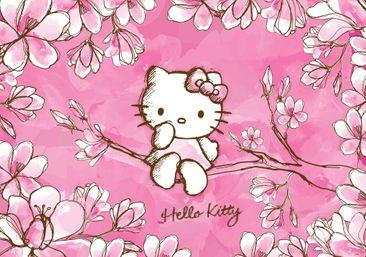 Produktfoto Fototapete - Hello Kitty - Vliestapete 454WM