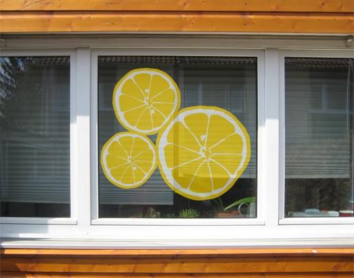 Produktfoto Fensterfolie - Fenstersticker No.UL610 Zitronenscheiben - Fensterbilder