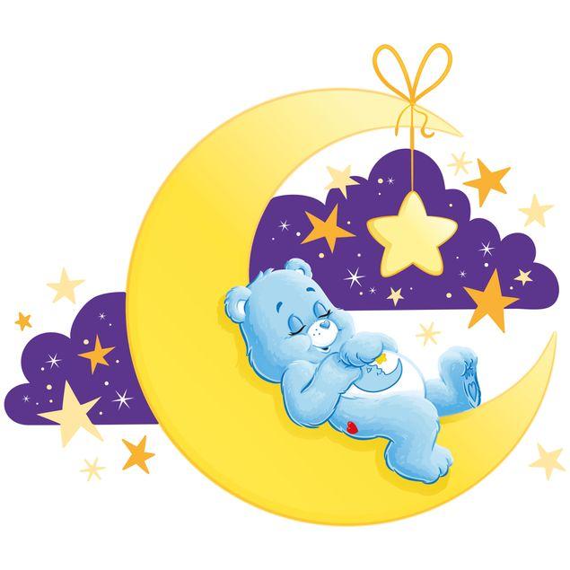 Produktfoto Wandtattoo Glücksbärchis Schlafen auf dem Mond