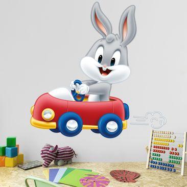 Produktfoto Wandtattoo Baby Looney Tunes Bugs Bunny im Auto