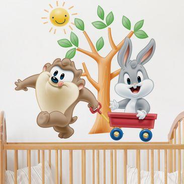 Produktfoto Wandtattoo Baby Looney Tunes Taz und Bugs Bunny spielen