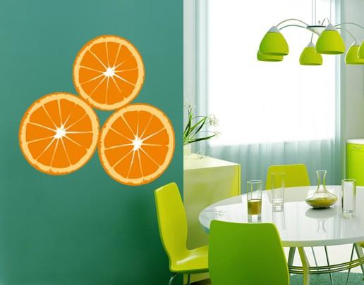Produktfoto Wandtattoo No.UL611 Orangenscheiben