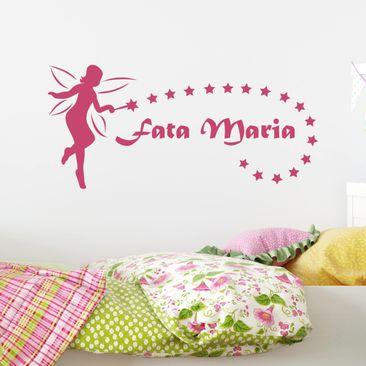 Immagine del prodotto Adesivo murale No.NH20 Fatina con testo personalizzato