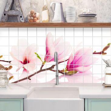 Immagine del prodotto Adesivo per piastrelle - Delicate magnolia branch