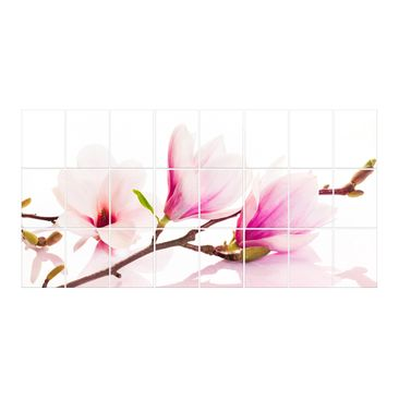 Product picture Tile Mural Delicate magnolia branch