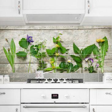 Immagine del prodotto Adesivo per piastrelle - Medicinal and wild herbs Formato orizzontale