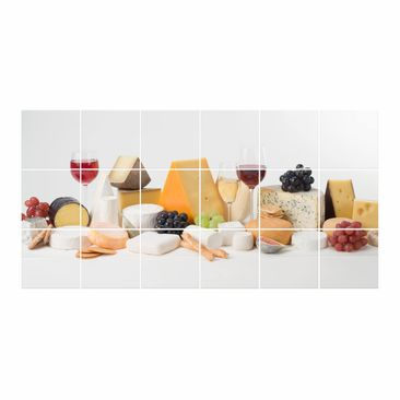 Product picture Tile Mural Cheese variations