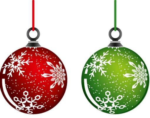 Produktfoto Fensterfolie - Fenstersticker No.485 Weihnachtskugeln - Fensterbilder