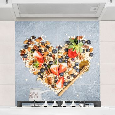 Product picture Tile Mural muesli heart