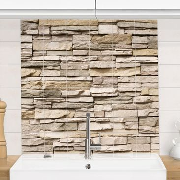 Immagine del prodotto Adesivo per piastrelle - Asian Stonewall - stone wall from big bright stones