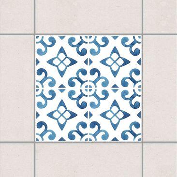 Produktfoto Fliesenaufkleber - Blau Weiß Muster...