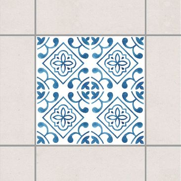 Product picture Tile Sticker - Blue White Pattern Series...