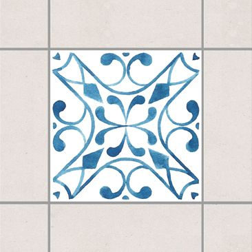 Product picture Tile Sticker - Pattern Blue White Series...