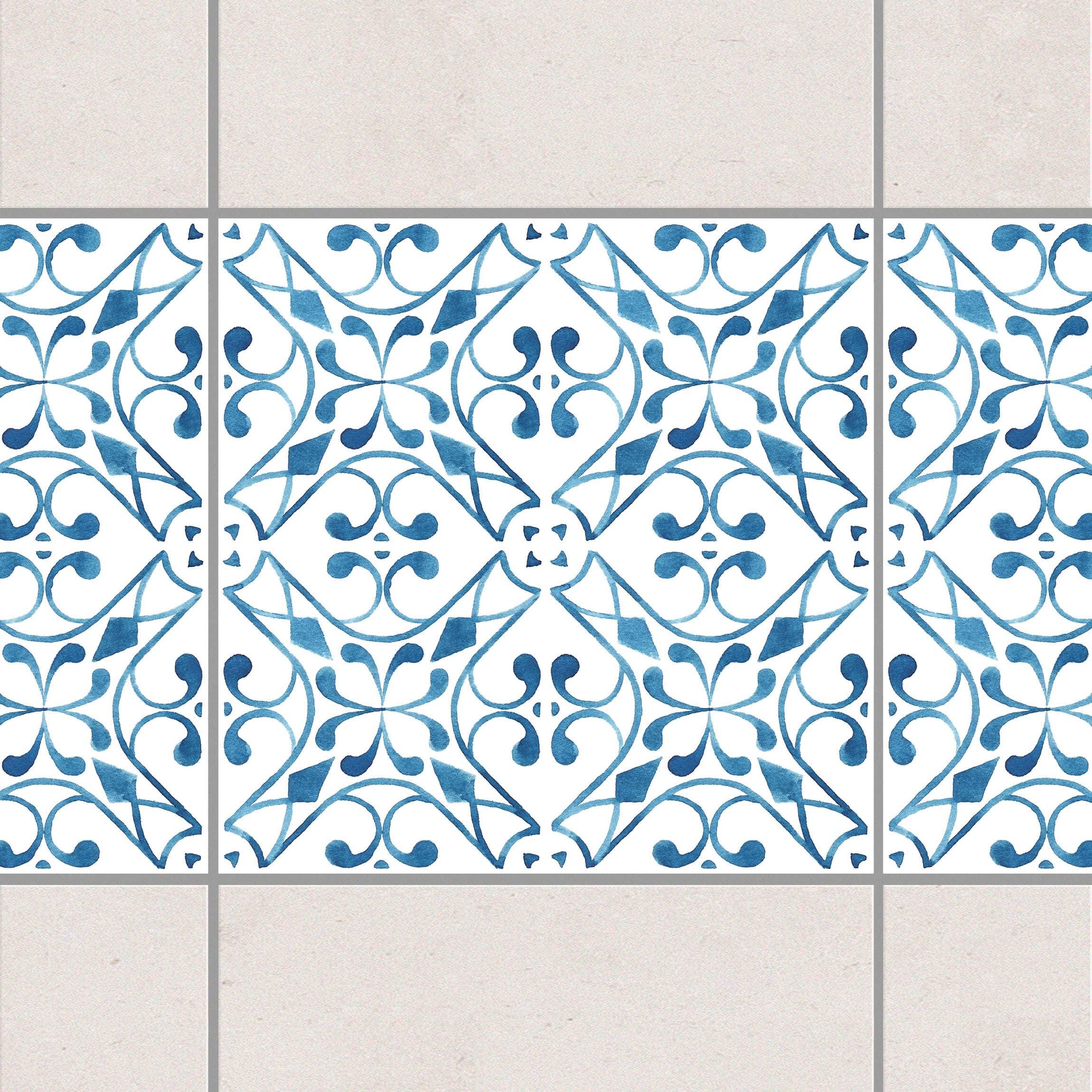 fliesen bord re blau wei muster serie no 3 1 1 quadrat 10cm x 10cm fliesenaufkleber. Black Bedroom Furniture Sets. Home Design Ideas