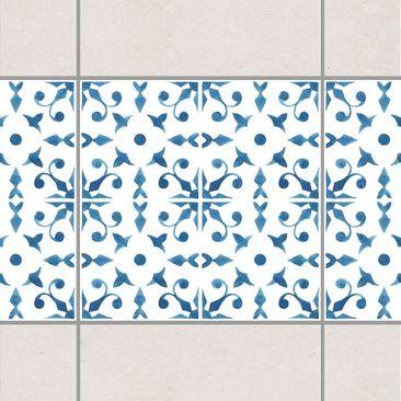 Produktfoto Fliesen Bordüre - Blau Weiß Muster...