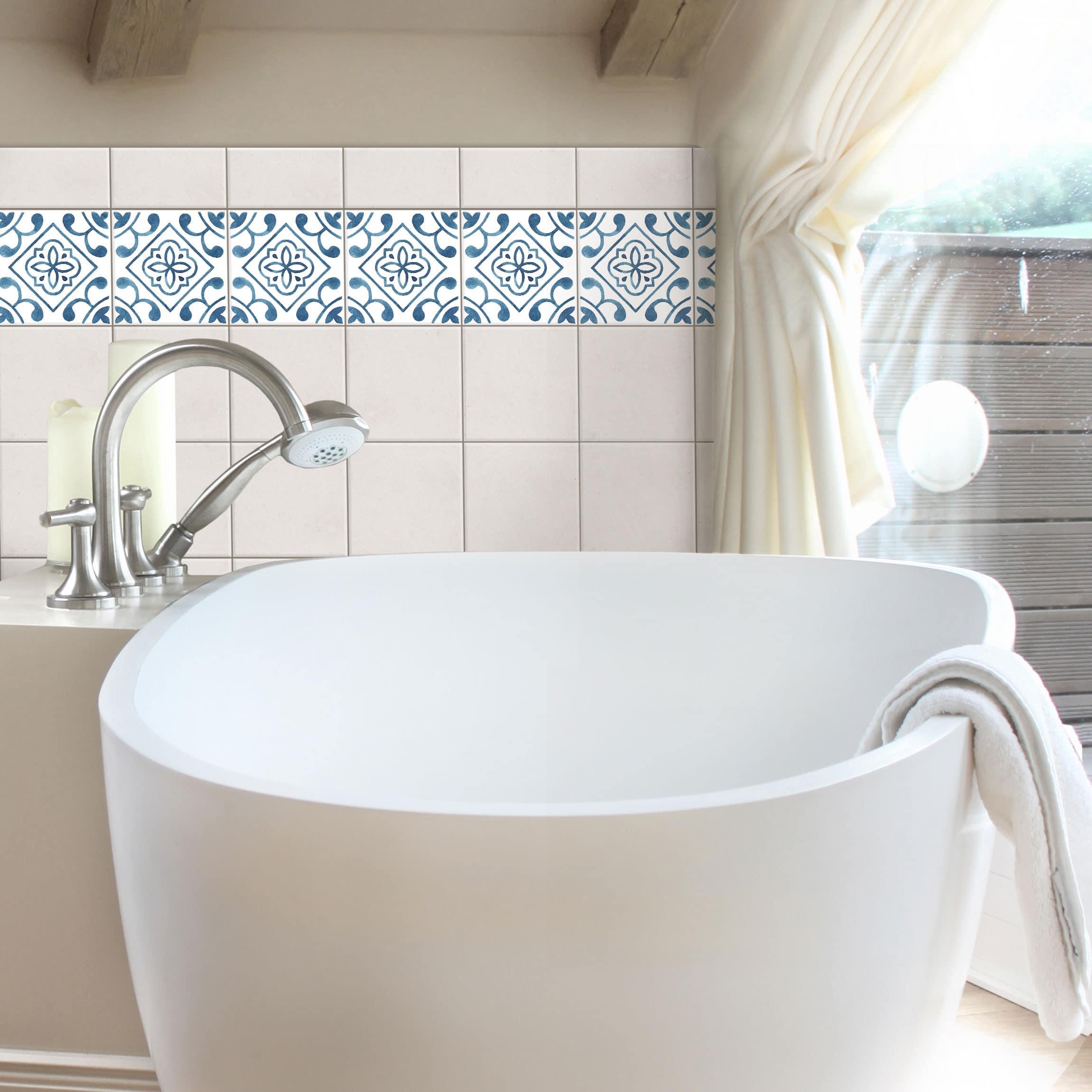 fliesen bord re muster blau wei serie no 2 1 1 quadrat. Black Bedroom Furniture Sets. Home Design Ideas