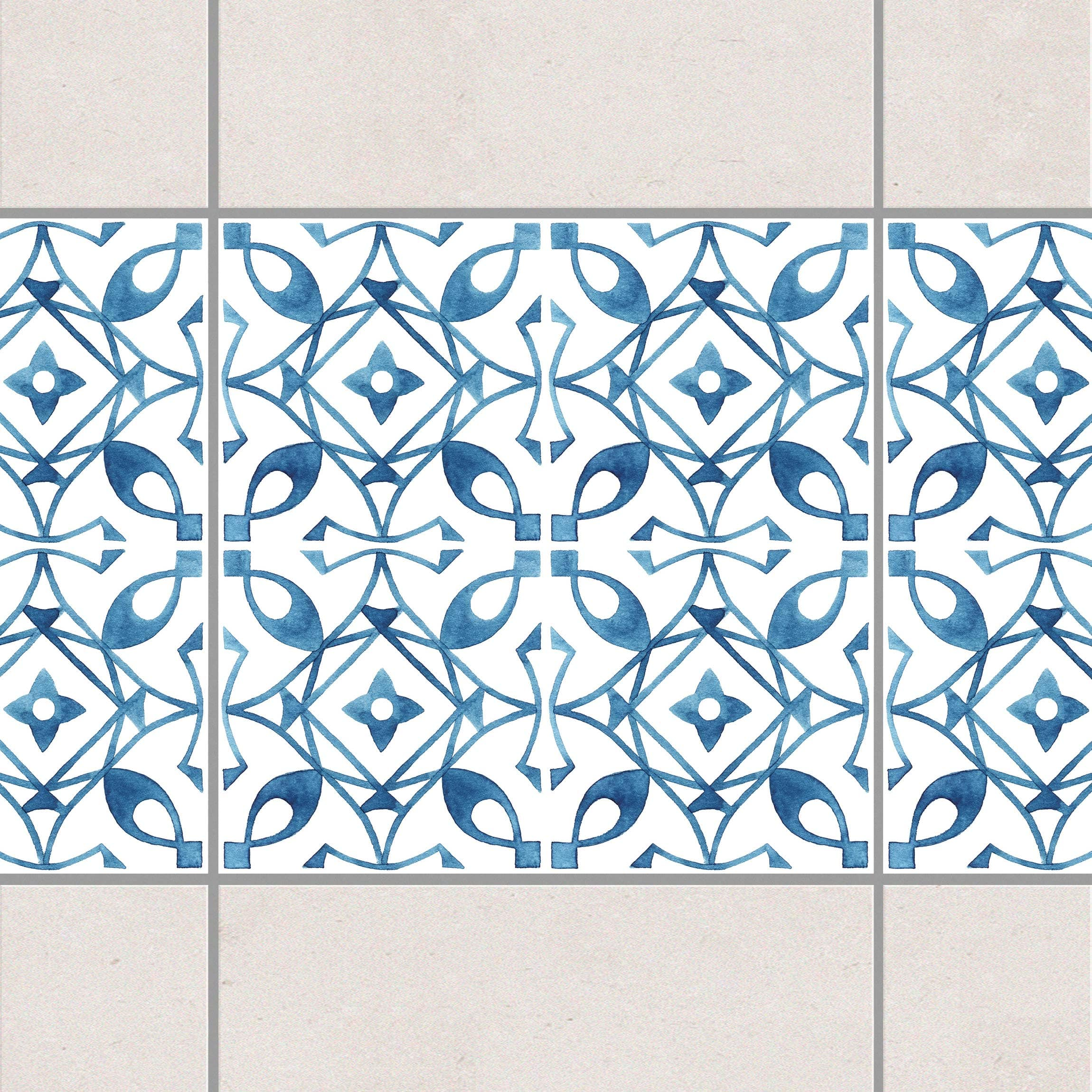 fliesen bord re blau wei muster serie no 8 1 1 quadrat 20cm x 20cm fliesenaufkleber. Black Bedroom Furniture Sets. Home Design Ideas