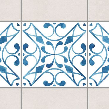 Product picture Tile Border - Pattern Blue White Series...