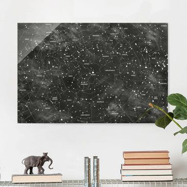 Immagine del prodotto Quadro in vetro - Constellation map panel optics - Orizzontale 2:3