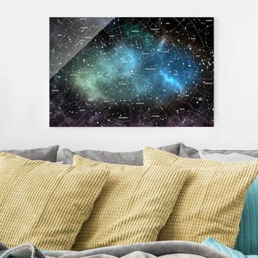 Product picture Print on Glass - Constellations map...